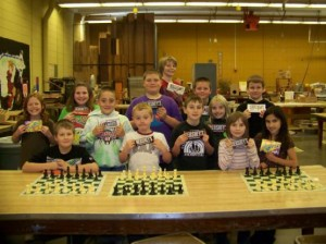 Some Elementary School Players Showing Off Their Prizes
