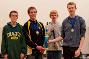 Advanced Section Winners: Pleasant Hillbillies Jacob Moch, Quinn Stearns, Jack Dale, Caleb Kesey
